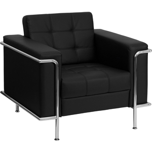 Les Series Reception Chair Black by BIGA (ZB-LESLEY-8090-CHAIR-BK-GG)