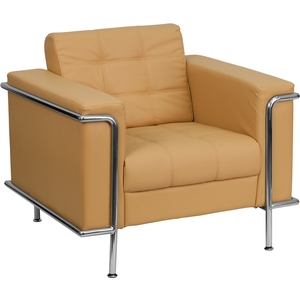 Les Series Reception Chair Brown by BIGA (ZB-LESLEY-8090-CHAIR-BRN-GG)