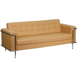 Les Series Reception Sofa Brown by BIGA (ZB-LESLEY-8090-SOFA-BRN-GG)