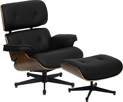 Pre Series Lounge Chair and Ottoman Set Black by BIGA (ZB-PRESIDEO-CH-001-OTT-BK-GG)