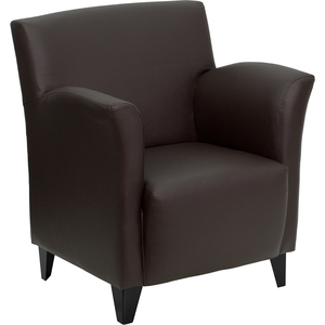 Rom Series Reception Chair Brown by BIGA (ZB-ROMAN-BROWN-GG)