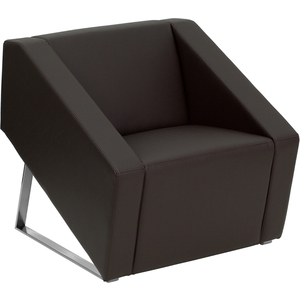 Sma Series Reception Chair Brown by BIGA (ZB-SMART-BROWN-GG)