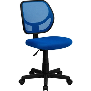 Mid-Back Blue Mesh SpaSalon Technician Chair by BIGA (WA-3074-BL-GG)