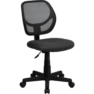Mid-Back Gray Mesh SpaSalon Technician Chair by BIGA (WA-3074-GY-GG)