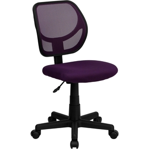 Mid-Back Purple Mesh SpaSalon Technician Chair by BIGA (WA-3074-PUR-GG)