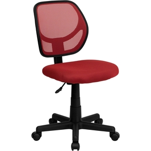 Mid-Back Red Mesh SpaSalon Technician Chair by BIGA (WA-3074-RD-GG)