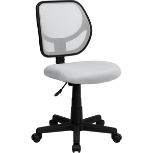Mid-Back White Mesh SpaSalon Technician Chair by BIGA (WA-3074-WHT-GG)