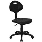 Tuff Chair - Liquid and Stain Resistant SpaSalon Technician Chair - Soft Black Polypropylene by BIGA (WL-908G-GG)