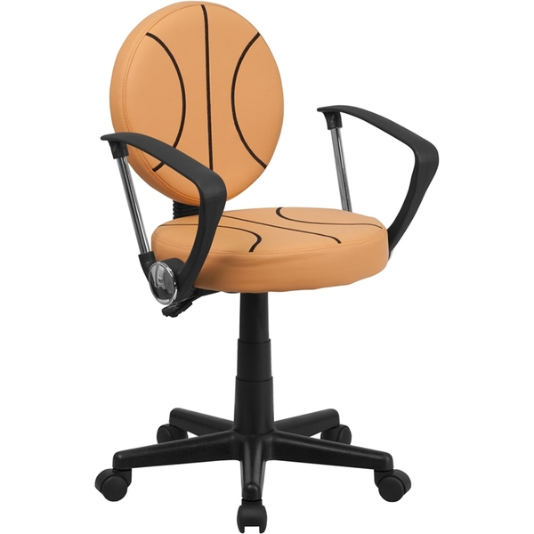 Basketball Themed SpaSalon Technician Chair with Arms by BIGA (BT-6178-BASKET-A-GG)
