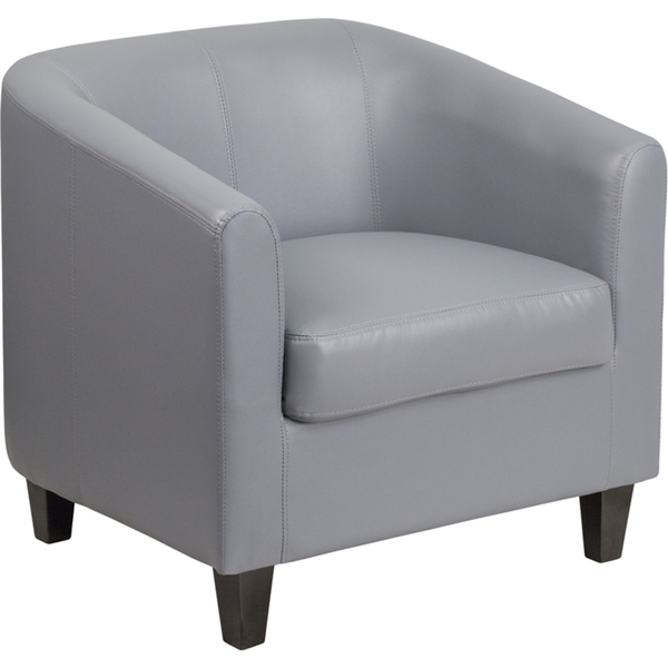 Gray Leather Guest Chair Reception Chair by BIGA (BT-873-GY-GG)