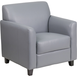 Gray Leather Guest Chair Reception Chair by BIGA (BT-827-1-GY-GG)