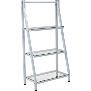 Glass Bookshelf with White Metal Frame by BIGA (NAN-JN21719-B-W-GG)