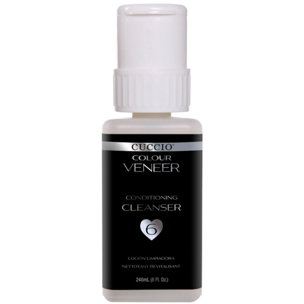 Cuccio Colour Veneer LEDUV Polish - Conditioning Cleanser - To Remove the Sticky Layer of the Veneer Topcoat 8 oz. (663094)