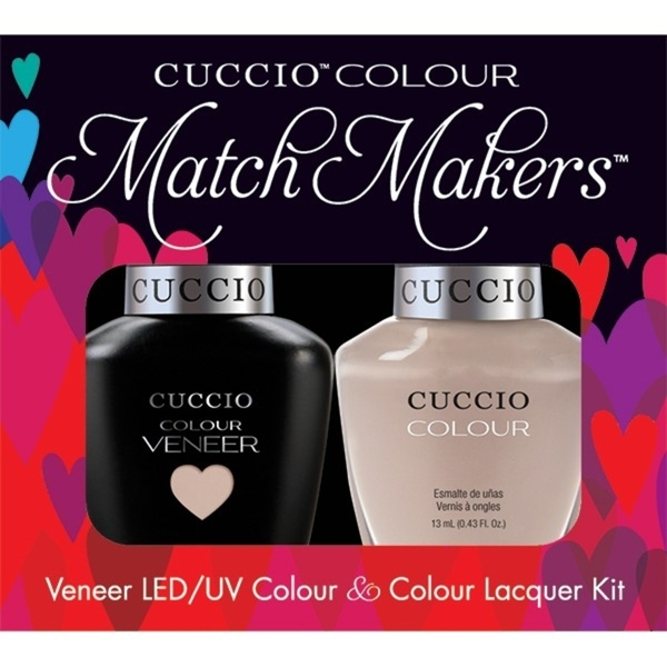 Cuccio Match Makers - Tel Aviv All About It Kit - 1 Nail Lacquer + 1 Matching Veneer Soak Off LEDUV Nail Colour 0.43 oz. Each (663241)