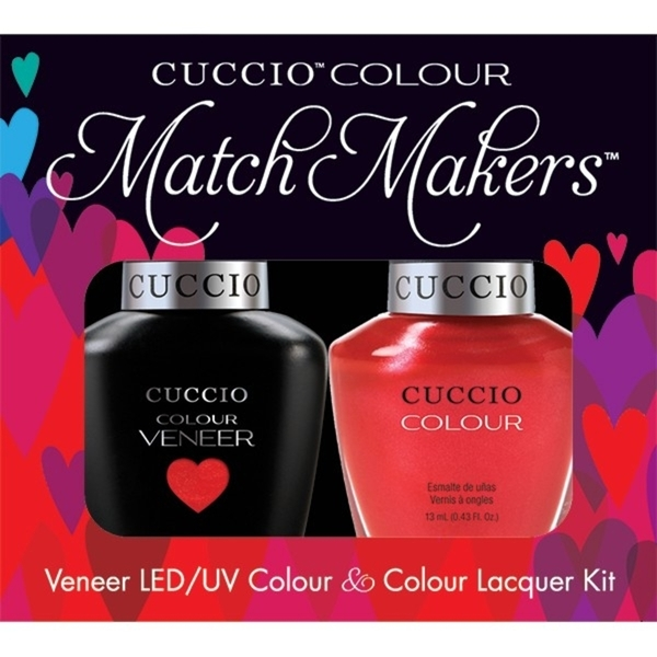 Cuccio Match Makers - Sicilian Summer Kit - 1 Nail Lacquer + 1 Matching Veneer Soak Off LEDUV Nail Colour 0.43 oz. Each (663256)
