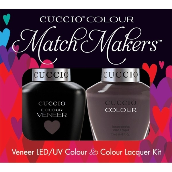 Cuccio Match Makers - Belize Me Kit - 1 Nail Lacquer + 1 Matching Veneer Soak Off LEDUV Nail Colour 0.43 oz. Each (663273)