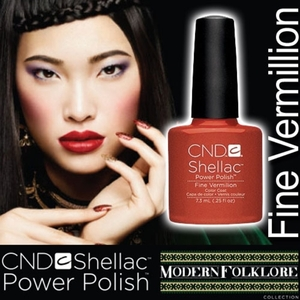 CND Shellac Fine Vermilion 0.25 oz. - 7.3 mL - The 14 Day Manicure is Here!