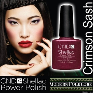 CND Shellac Crimson Sash 0.25 oz. - 7.3 mL - The 14 Day Manicure is Here!