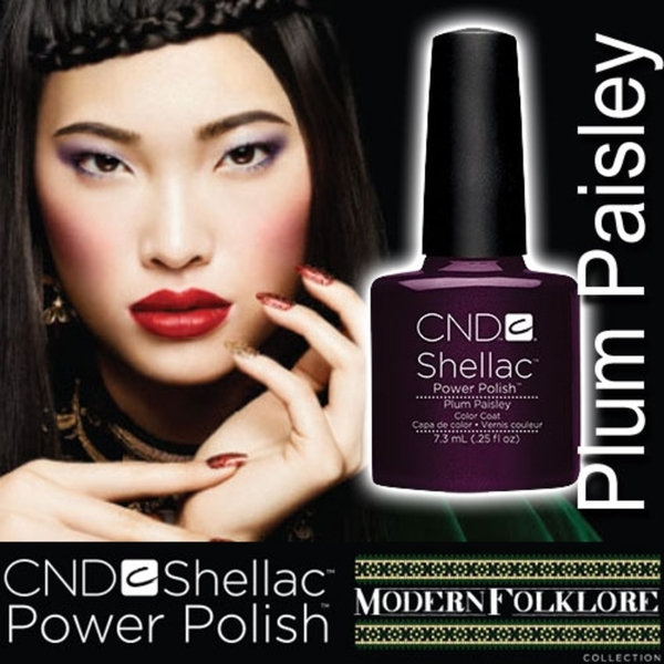 CND Shellac Plum Paisley 0.25 oz. - 7.3 mL - The 14 Day Manicure is Here!