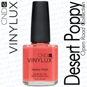 CND VINYLUX Spring 2014 Open Road Collection - Desert Poppy 0.5 oz. (800399)