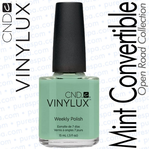 CND VINYLUX Spring 2014 Open Road Collection - Mint Convertible 0.5 oz. (800401)