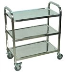 "Stainless Steel Esthetician's Cart 3 Shelves 26""W x 16""D x 35""H (L100S3)"