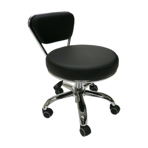 Merel Pedicure Stool Black (LS103-11-Blk)