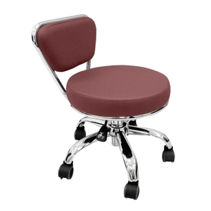 Merel Pedicure Stool Burgundy (LS103-11-BG)