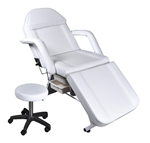 Jansey Facial Bed & Stool White (TD215 + 001A WH)