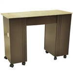 Roosevelt Manicure Table - Full Vanilla Marble Top (VN LS111 A2VF)