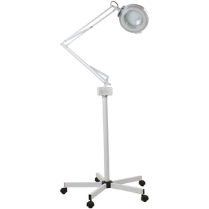 The Tamar 5-Diopter Magnifying Lamp with 8-Diopter Spot Magnifier with Rolling Stand (MSD-FCAPP-2051)