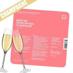 Champagne Hot Wax - Stripless - Premium Hard Wax for Sensitive Areas 1 kg. 2.2 lbs. (DHWCH)