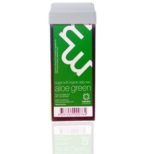 Aloe Green Strip Wax - Strip Wax - Super Soft Organic Roll On Cartridge 3.38oz. (SWAGC)
