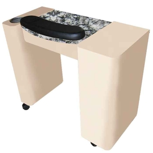 The Maisie Granite Top Wood Finish Nail Table (D-209)