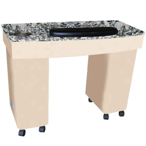 The Ava Granite Top Wood Finish Nail Table (D-304)