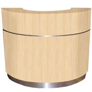 "The Chloe Wood Finish Half Moon Reception Counter 54"" or 72"" Wide (Half-Moon-Reception)"
