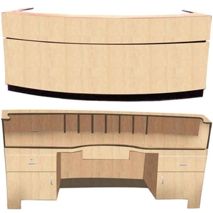 "The Hailey Wood Finish 18 Moon Reception Counter 60"" or 72"" Wide (18-Moon-Reception)"