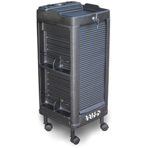 Maxi Plus Lockable Cart with Built-In Appliance Holder 6 Trays by SalonTuff (MP-L)