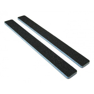 Standard Black Cushion Nail Files - 8080 - Blue Center - Square End Washable 2000 Mega Case (10210-cs)