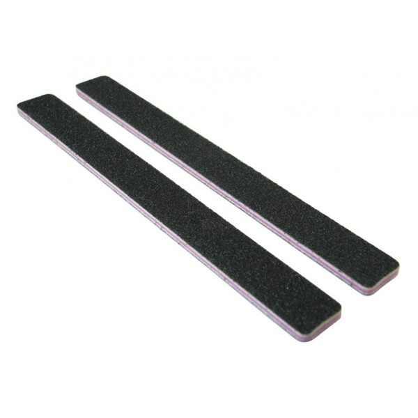Standard Black Cushion Nail Files - 8080 - Lavender Center - Square End Washable 2000 Mega Case (10212-cs)