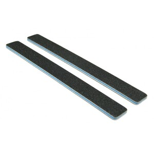 Standard Black Cushion Nail Files - 80100 - Blue Center - Square End Washable 2000 Mega Case (10215-cs)