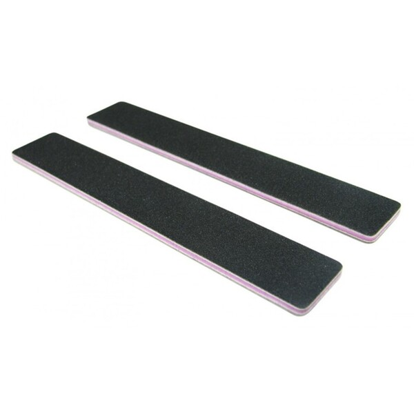 "Standard Black Cushion Nail Files - 8080 - Lavender Center - 1-18"" Wide Washable Jumbo 1400 Mega Case (10209-cs)"