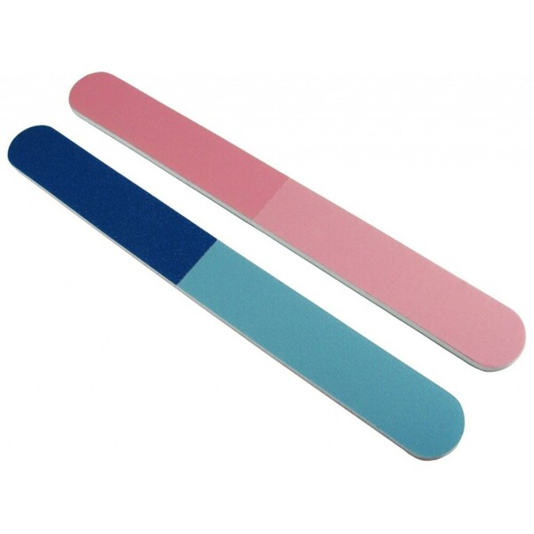 Color Cushion Nail Files - Standard PinkBlue 4-Way Washable 2000 Mega Case (10182-cs)