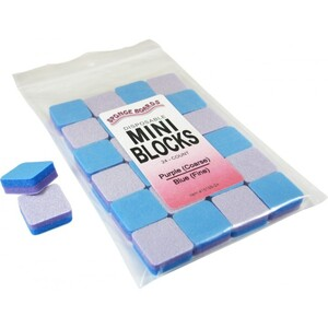 "Disinfectable PurpleBlue Sponge Board Nail Files - 100240 CoarseFine - 1"" Mini Block 1512 Mega Case (10198-cs)"