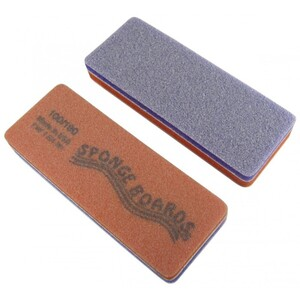 "Disinfectable PurpleOrange Sponge Board Nail Files - 100180 CoarseMedium - Block Shape 1-38"" x 3-58"" 1200 Mega Case (10079-cs)"