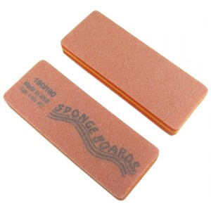 "Disinfectable Orange Sponge Board Nail Files - 180180 Medium - Block Shape 1-38"" x 3-58"" 1200 Mega Case (10081-cs)"