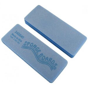 "Disinfectable Blue Sponge Board Nail Files - 240240 Fine - Block Shape 1-38"" x 3-58"" 1200 Mega Case (10082-cs)"