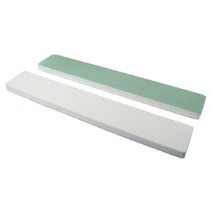 "Quickshine High Gloss - GreenWhite - 1-18"" Wide Jumbo Nail Buffer 750 Mega Case (10125-cs)"