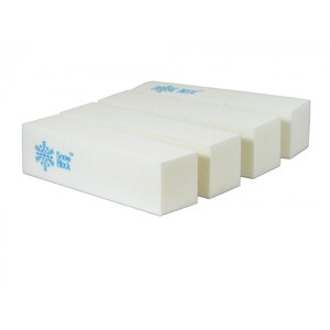 SnowBlock - White Manicure Buffer Block 500 Case (10112-cs)