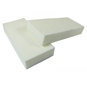 "2 Way Slim White Buffer 3"" x 1.3"" x 0.5"" 120120 500 Mega Case (10192-cs)"